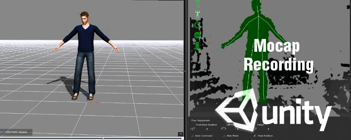 Mocap recording de iClone et Kinect vers Unity3D